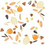 Modelo inconsútil de los granos de cereales Foto de archivo libre de regalías