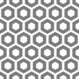 Modelo inconsútil de los hexágonos a cuadros Foto de archivo libre de regalías