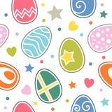Modelo inconsútil de los huevos de Pascua stock de ilustración