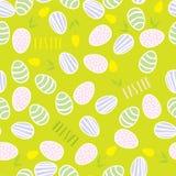 Modelo inconsútil de los huevos de Pascua Fotografía de archivo libre de regalías