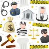 Modelo inconsútil de los iconos de la ley y de la orden libre illustration