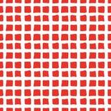 Modelo inconsútil de los ladrillos rojos pintados a mano Imagen de archivo libre de regalías