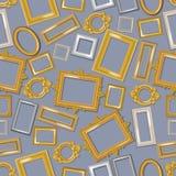 Modelo inconsútil de los marcos realistas del vintage El enmarcar de la imagen de diverso ejemplo del vector del tama?o Prendeder libre illustration