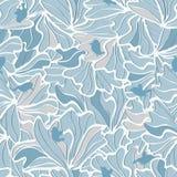 Modelo inconsútil de los pájaros de los pétalos de las flores Imagen de archivo libre de regalías