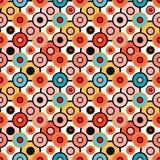 Modelo inconsútil de los pequeños círculos psicodélicos Imagen de archivo libre de regalías