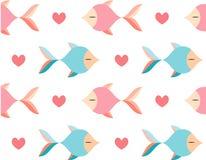 Modelo inconsútil de los pescados ilustración del vector