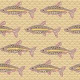 Modelo inconsútil de los pescados Foto de archivo