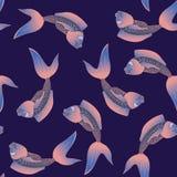 Modelo inconsútil de los pescados divertidos Foto de archivo libre de regalías
