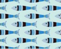 Modelo inconsútil de los pescados, garabato Imagenes de archivo