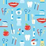 Modelo inconsútil de los productos personales del cuidado dental Imagen de archivo