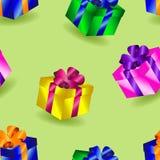 Modelo inconsútil de los regalos Imágenes de archivo libres de regalías