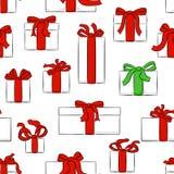 Modelo inconsútil de los regalos de la Navidad libre illustration