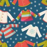 Modelo inconsútil de los suéteres del invierno Fotos de archivo libres de regalías