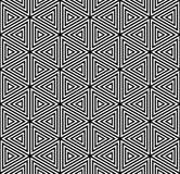 Modelo inconsútil de los triángulos Textura geométrica Imágenes de archivo libres de regalías