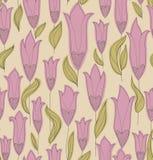 Modelo inconsútil de los tulipanes libre illustration