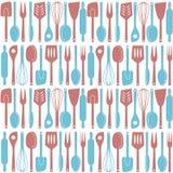 Modelo inconsútil de los utensilios de la cocina libre illustration