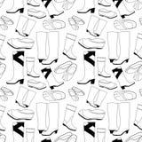 Modelo inconsútil de los zapatos Imagen de archivo libre de regalías