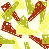 Modelo inconsútil de los zapatos de gimnasia. Foto de archivo libre de regalías