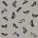 Modelo inconsútil de los zapatos de moda Imagen de archivo libre de regalías