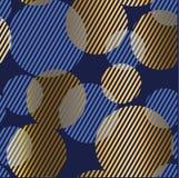 Modelo inconsútil de lujo geométrico abstracto con el ele bouble redondo Fotos de archivo
