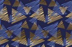 Modelo inconsútil de lujo geométrico abstracto con el elemento del triángulo Fotos de archivo libres de regalías