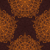 Modelo inconsútil de lujo hecho a mano decorativo étnico Islam, árabe, indio, adornos del otomano Mandala clásica Vector ilustración del vector