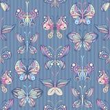 Modelo inconsútil de mariposas stock de ilustración