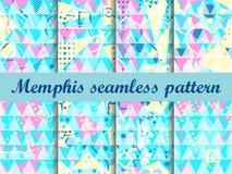 Modelo inconsútil de Memphis Elementos geométricos Memphis en el estilo 80 del ` s