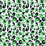 Modelo inconsútil de moda de la piel animal en el fondo blanco Leopardo de la acuarela o impresión pintado a mano del guepardo co ilustración del vector