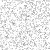 Modelo inconsútil de monedas al azar libre illustration