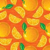 Modelo inconsútil de naranjas Imágenes de archivo libres de regalías