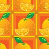 Modelo inconsútil de naranjas Fotos de archivo