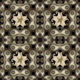 Modelo inconsútil de Paisley de la elegancia floral Fondo hermoso ornamental del vector Repita la línea contexto del tracery del  stock de ilustración