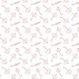 Modelo inconsútil de paraguas rojos en blanco ilustración del vector