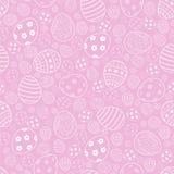 Modelo inconsútil de Pascua del vector Huevos de Pascua en fondo rosado ilustración del vector