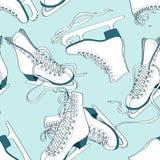 Modelo inconsútil de patines stock de ilustración