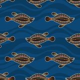 Modelo inconsútil de pescados Arte australiano libre illustration