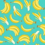Modelo inconsútil de plátanos Foto de archivo