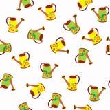 Modelo inconsútil de polivinílico-rollos amarillos y verdes - vector el ejemplo Imagenes de archivo