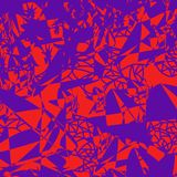 Modelo inconsútil de puntos y de líneas caótico dispersados stock de ilustración