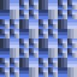 Modelo inconsútil de rectángulos de diversos tamaños en color azul Imagen de archivo libre de regalías