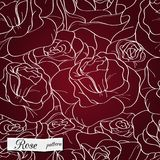 Modelo inconsútil de Rose Imagenes de archivo