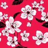 Modelo inconsútil de Sakura stock de ilustración
