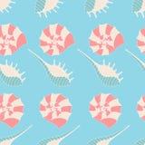 Modelo inconsútil de seashells Imagen de archivo libre de regalías