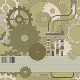 Modelo inconsútil de Steampunk Fotografía de archivo libre de regalías