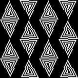 Modelo inconsútil de triángulos en un fondo negro Stock de ilustración