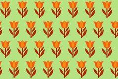 Modelo inconsútil de tulipanes Foto de archivo