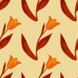 Modelo inconsútil de tulipanes Fotos de archivo libres de regalías