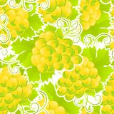 Modelo inconsútil de uvas verdes Imagen de archivo libre de regalías