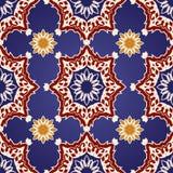 Modelo inconsútil decorativo en adorno del otomano Foto de archivo libre de regalías